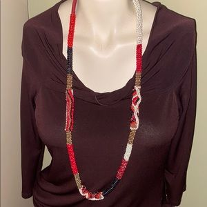 🛍CHICO'S LONG BEADED NECKLACE🛍WORN ONCE🛍